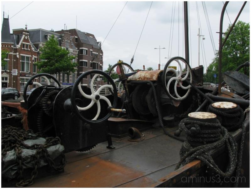 Old ship in Leeuwarden
