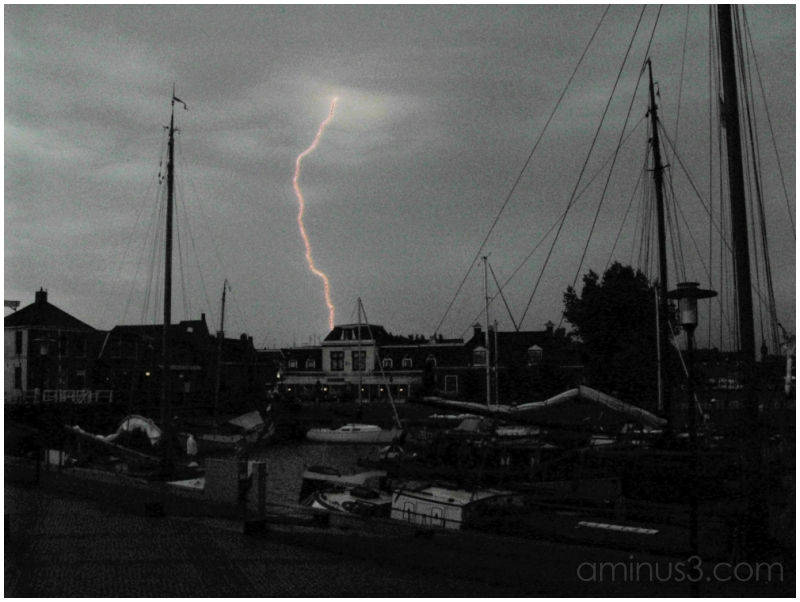 Lightning in Stavoren Harbour