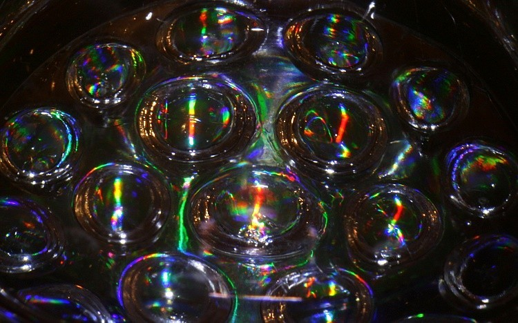 Colored glass balls abstract