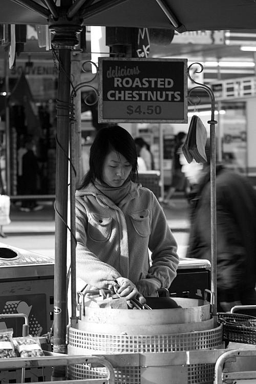 Chestnut seller