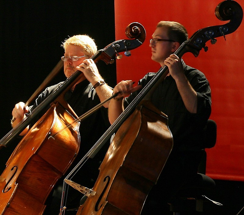 Two Double-Bass Players