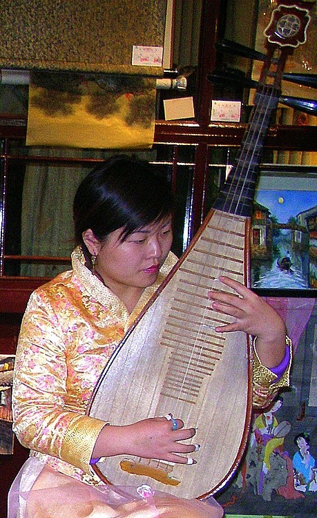 A Chinese Pipa Player