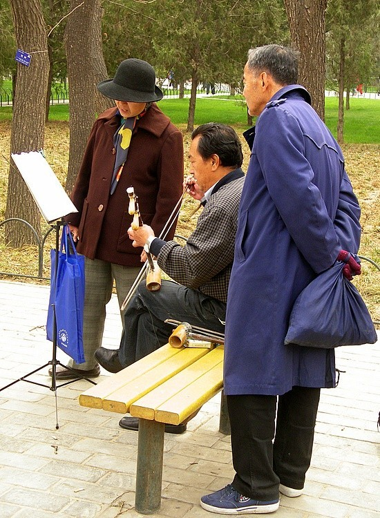 Practising the Erhu