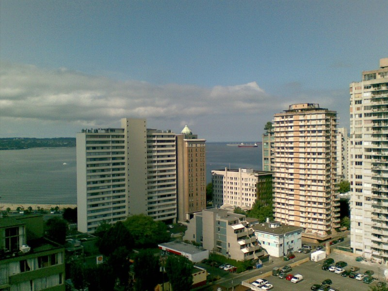 View of English Bay from Coast Plaza Hotel