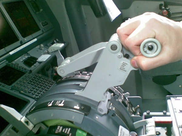 Thrust lever of Boeing 737 NG