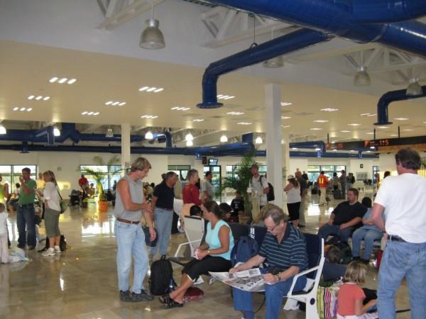Inside PVR departures lounge