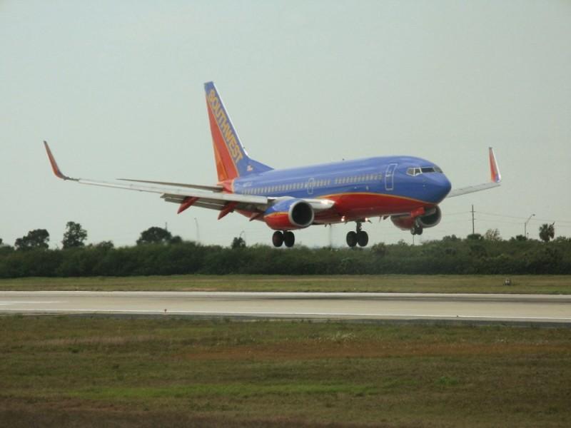 Southwest airplane landing