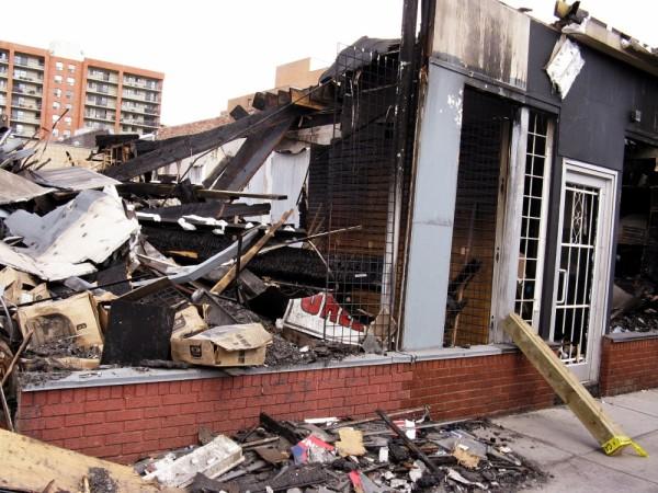 burnt building on 17th ave sw calgary