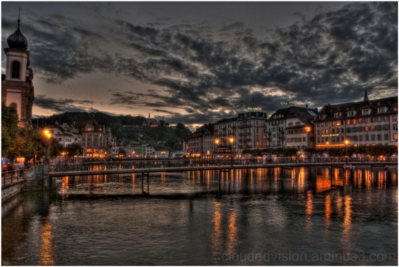 Sunset in Lucerne