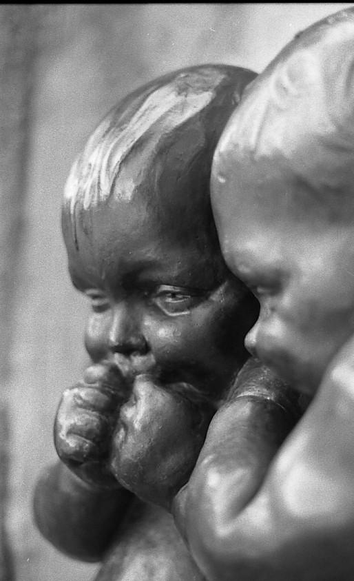 sculpture of babies