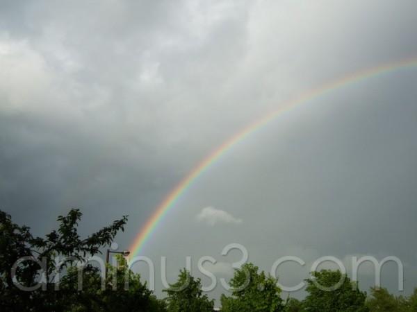 rainbow colours sky