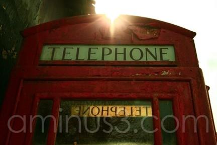 red, phone, box, telephone