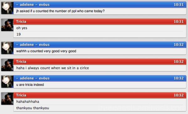 My conversation with Adelene