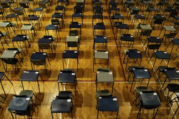 An exam hall.