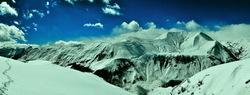 georgia gudauri winter mountains snow