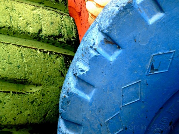 Colorful Playground Tires