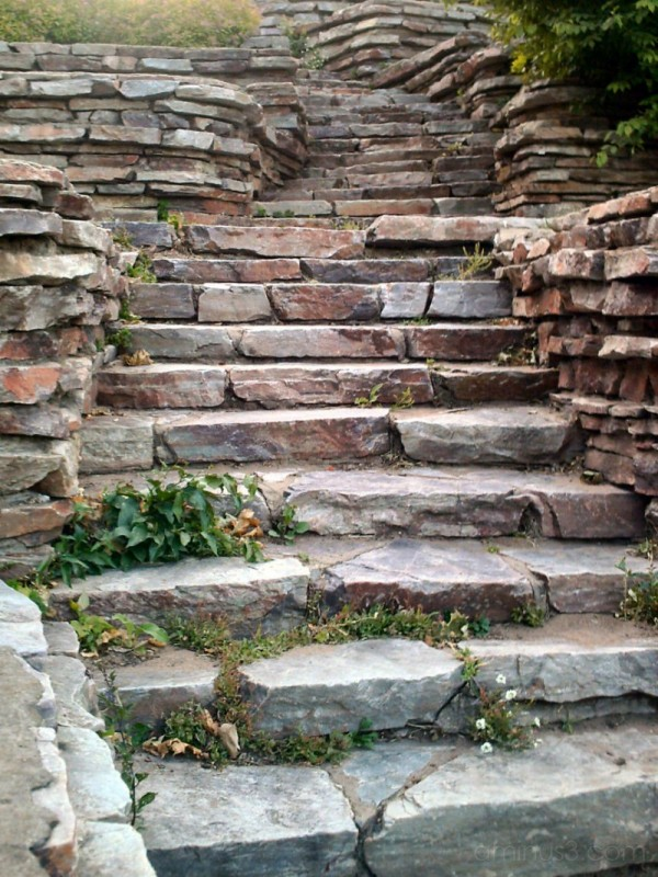 stone steps at parkview park