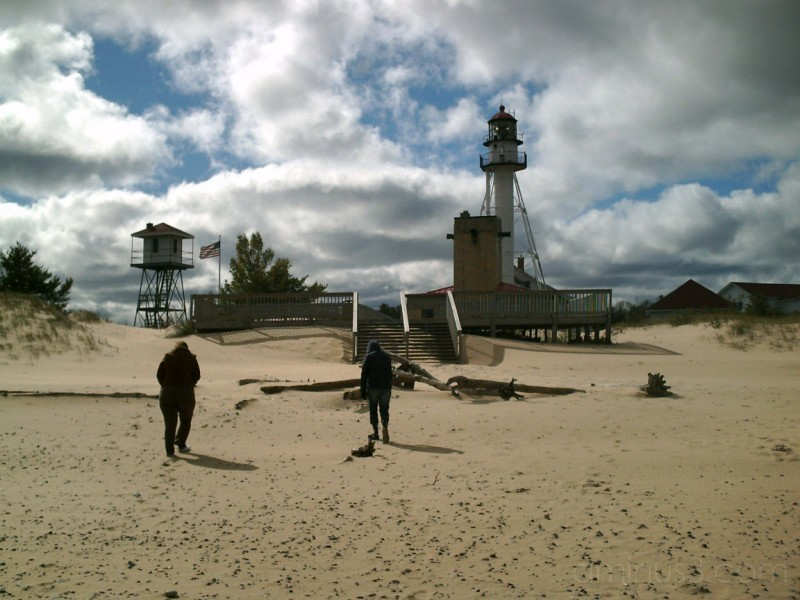 Cold and windy at Whitefish Point