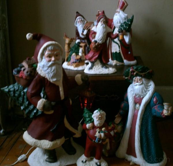 Mom's Santa Collection