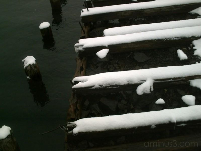 Old Docks in Winter