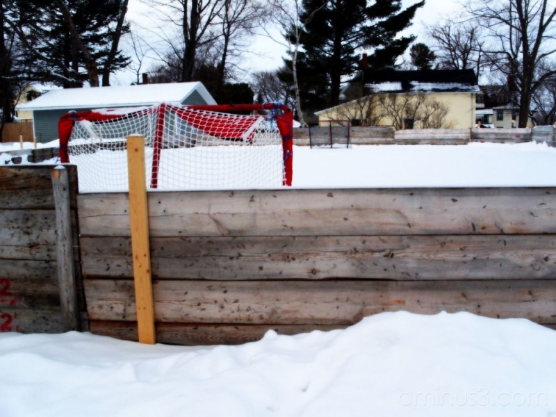 Homemade Hockey Rink