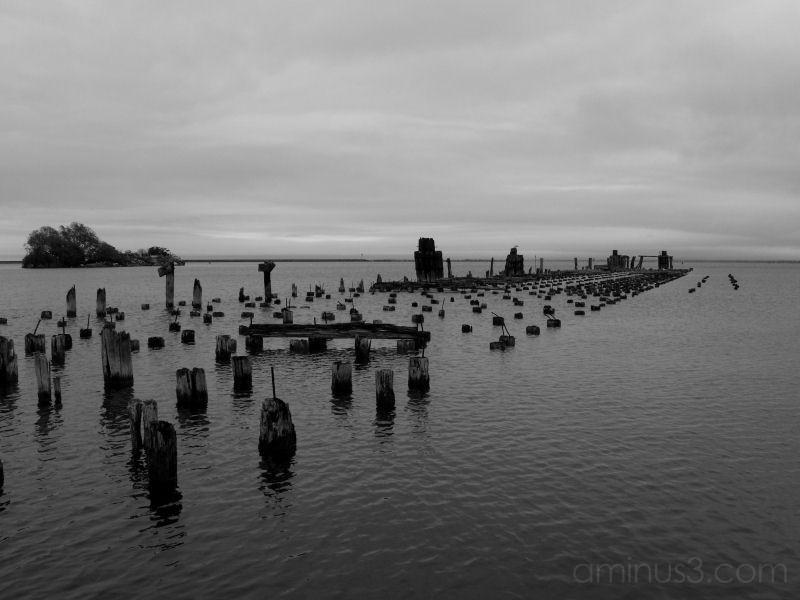 Old Docks in B&W