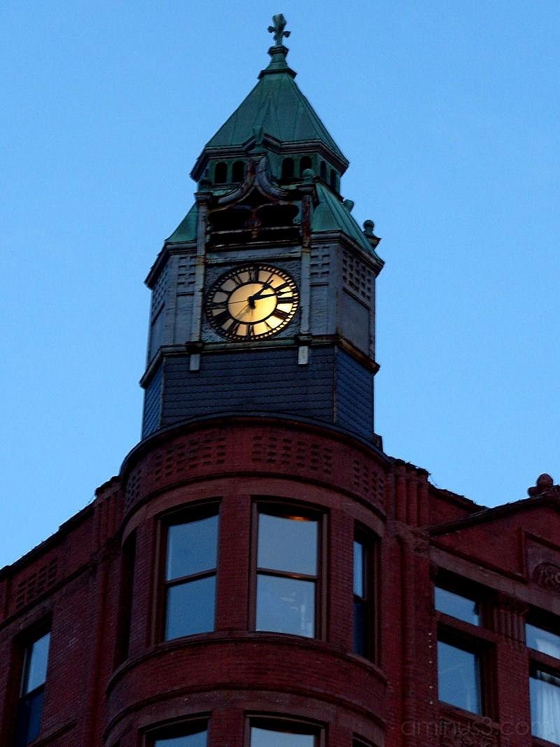 Savings Bank Building Clock