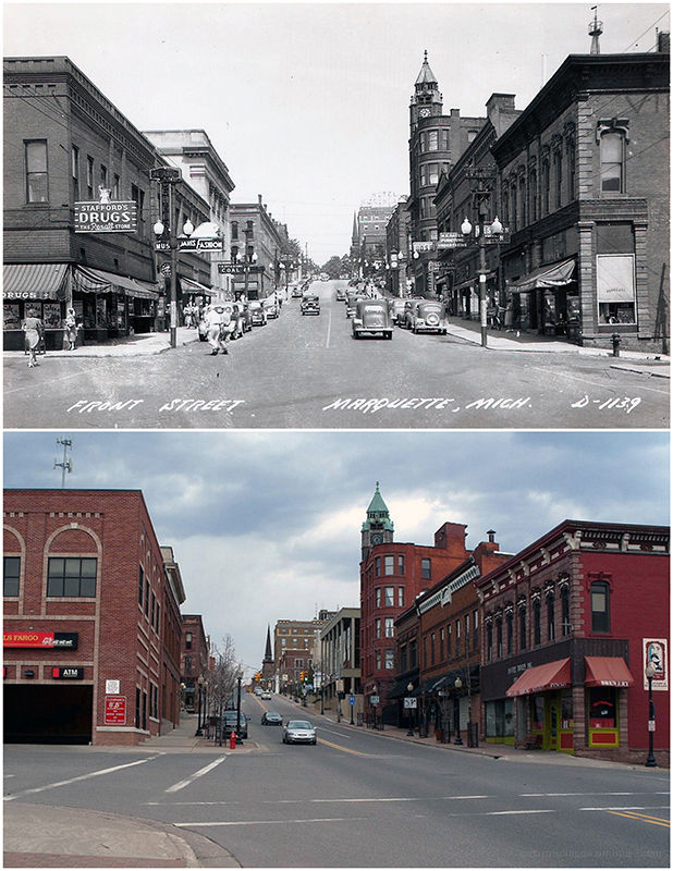 Front Street: Then and Now
