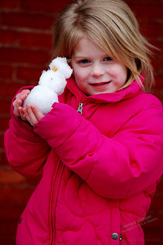 Ella and Her Portable Snowman