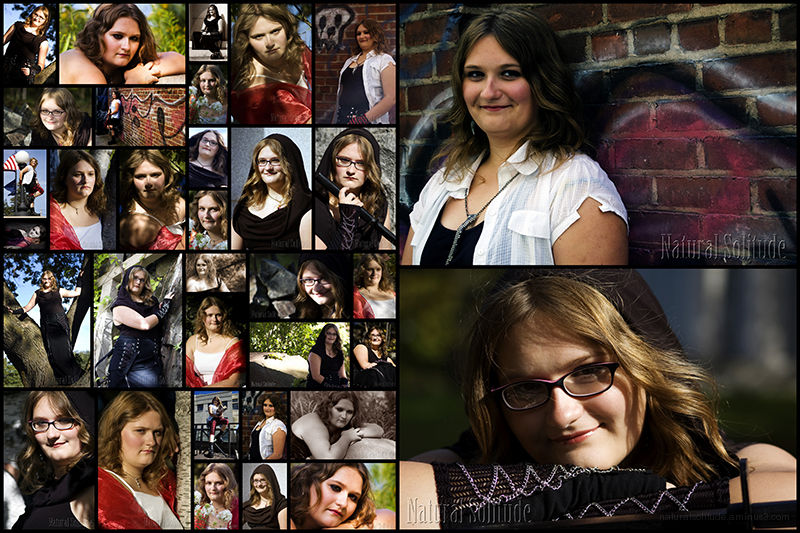 Hayley's Senior Portraits - Collage
