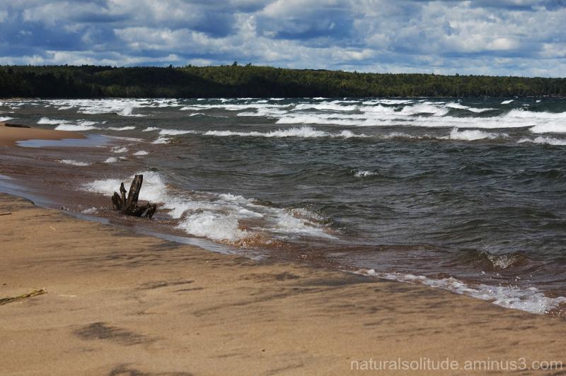 lake superior beach and waves