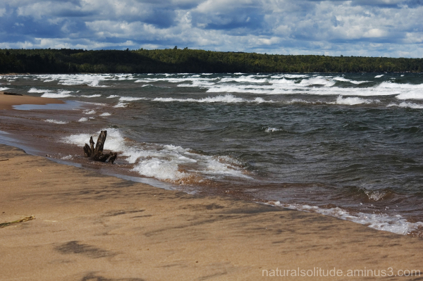 lake superior beach and waves