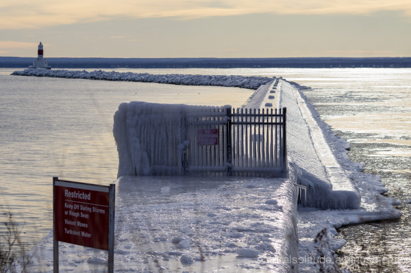 Frozen breakwater