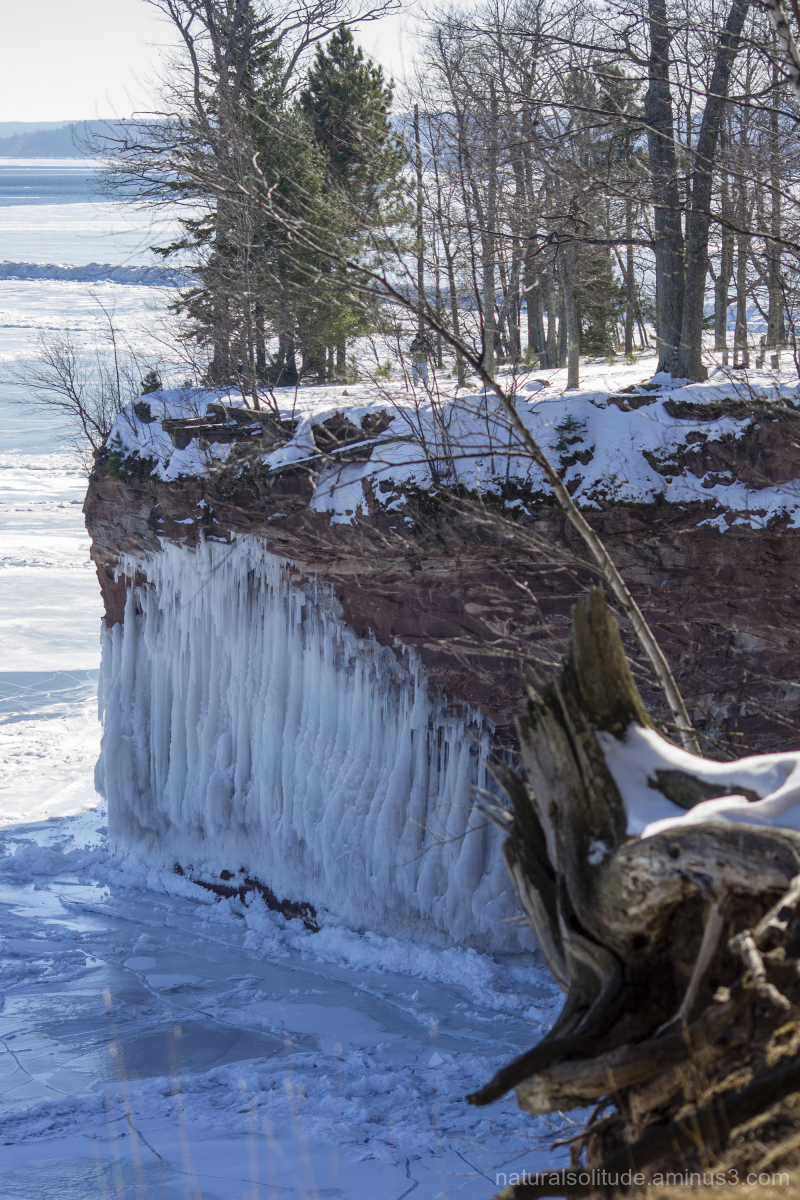 Icy cliff