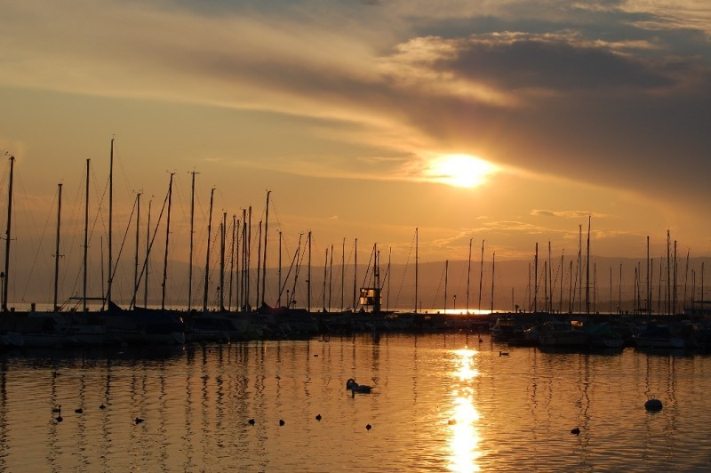 ouchy soleil sunset lausanne