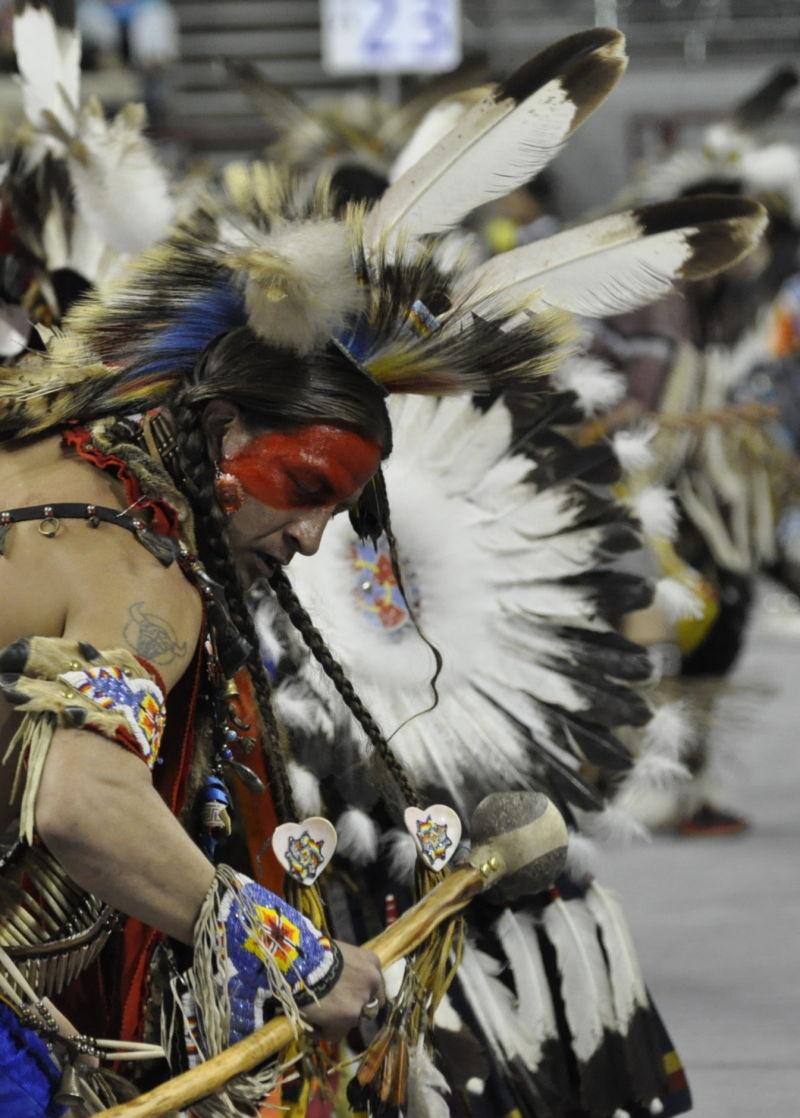 Traditional Native American dancer