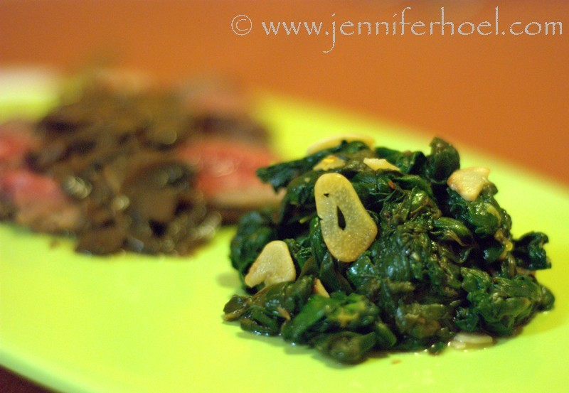 sauteed garlic-lemon spinach