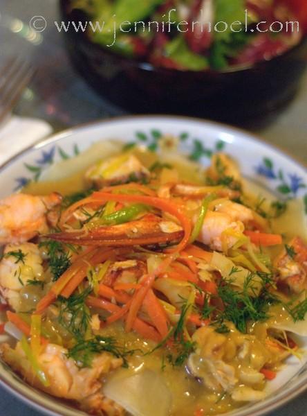 ravioli in lobster champagne sauce