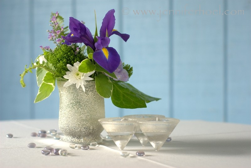 cocktail table flowers
