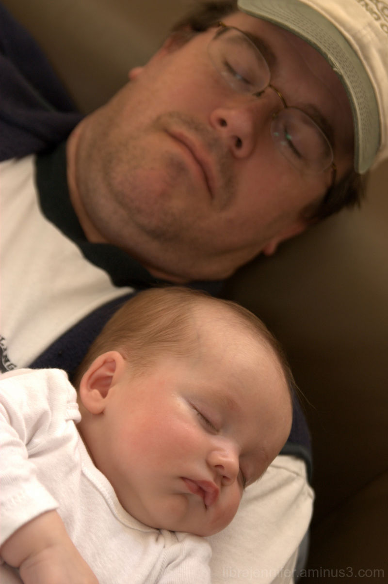 nap time with daddy