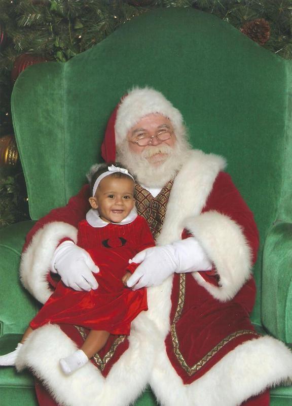 Bella and Santa