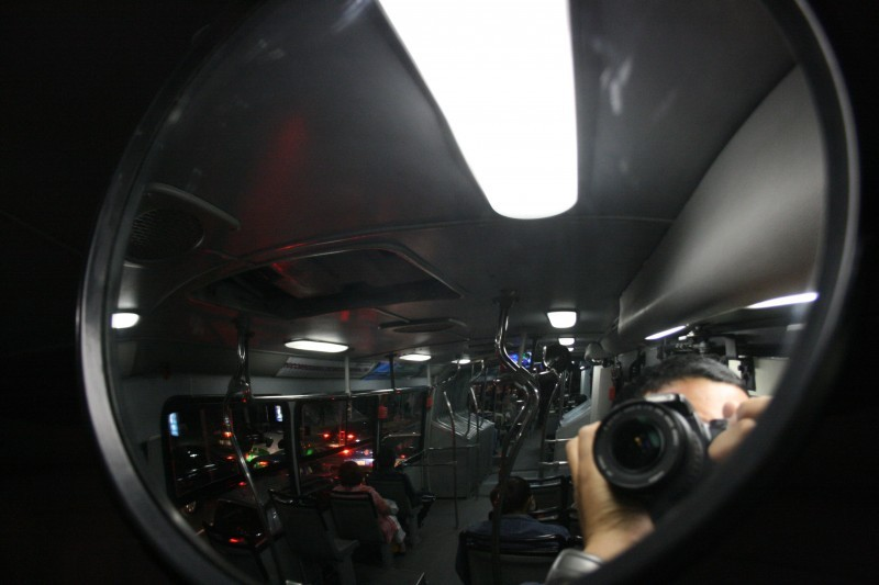 Mirror in metrobus