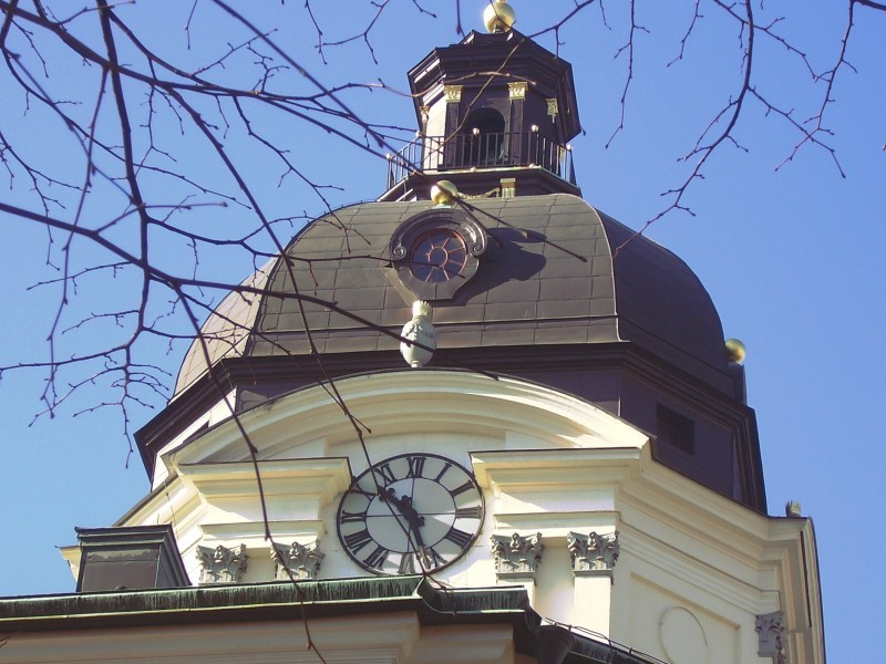 Tower of Church with Clock
