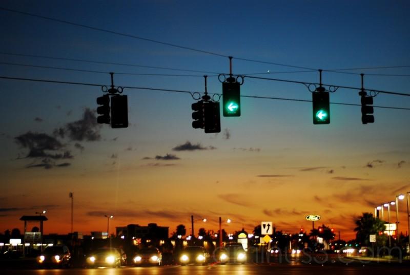 The city at dusk!