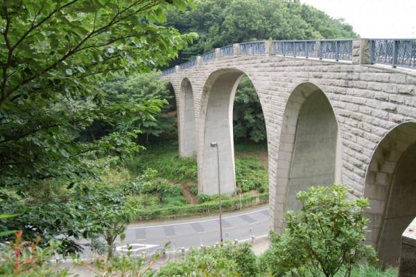 A pedestrian bridge of a mountain