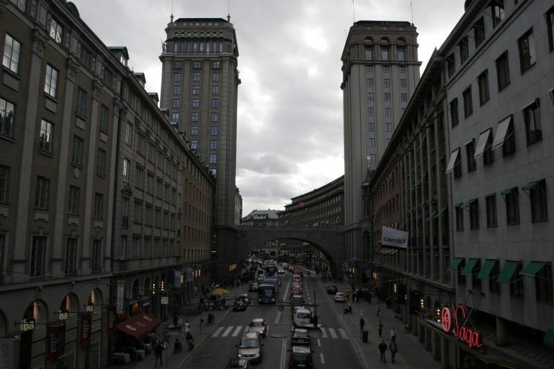 a cloudy city
