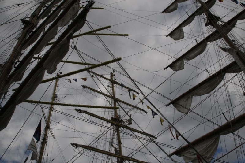 without sails...