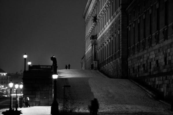Stockholms slott svartvitt