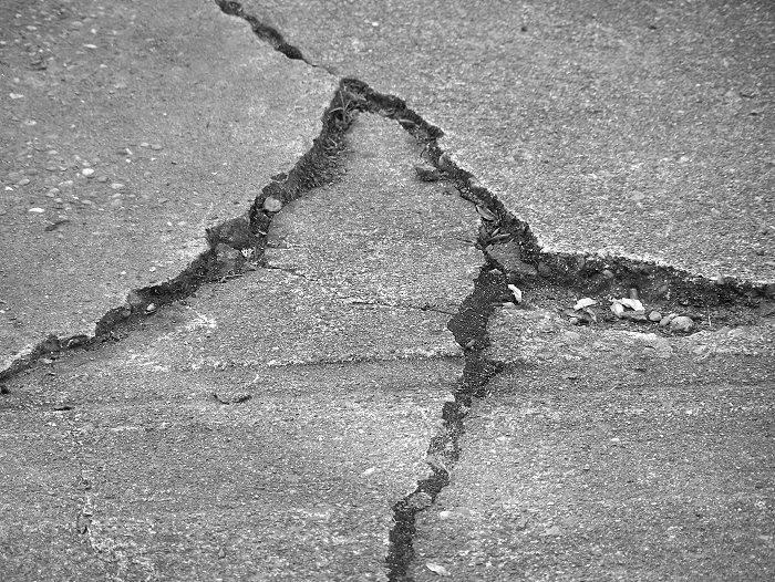 Sidewalk crack