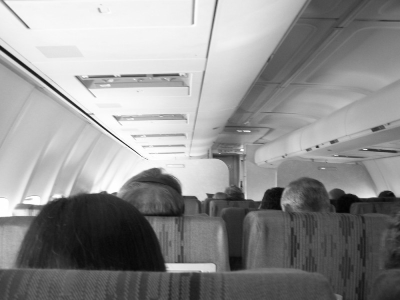 heads on a plane